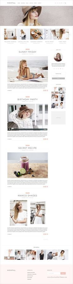 Highfill is modern design responsive #WordPress #blog #theme to tell your story in creative and stylish websites with multiple homepage layouts download now➩ https://themeforest.net/item/highfill-modern-personal-wordpress-blog-theme/19303324?ref=Datasata