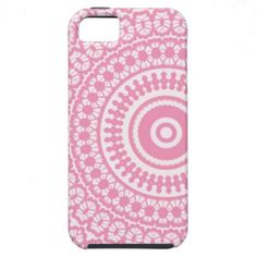 Pink White Pretty Lace Pattern iPhone Case iPhone 5 Cases