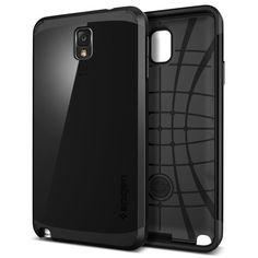 Samsung Galaxy Note 3 Protective Case – Spigen Slim Armor Cover (Soul Black)