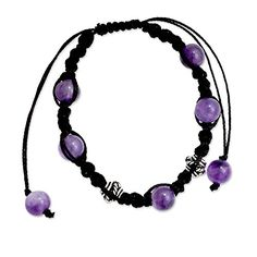 NOVICA Handmade Amethyst Shambhala Style Macrame Bracelet with Sterling Silver Accent 'Violet Peace' http://stylexotic.com/novica-handmade-amethyst-shambhala-style-macrame-bracelet-with-sterling-silver-accent-violet-peace/
