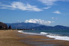 Terracina beach in Italy