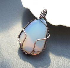 Opalite copper pendant by VeraNasfa, $28.00