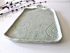 Handmade Aqua Cheese board - Ceramic Cheese Platter - Porcelain ...