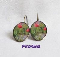 sk - gravírovanie na mieru Poppy, Jewels, Drop Earrings, Handmade, Hand Made, Jewerly, Drop Earring, Gemstones, Fine Jewelry