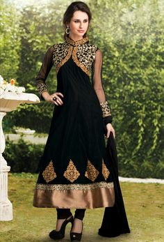 Royal black anarkali dress