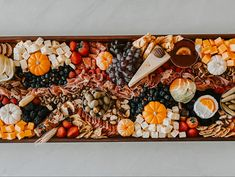 Get inspired and create the ultimate Thanksgivi or Halloween Cheese Baord this year. Grazing Tables, Fruit Displays, Dairy, Appetizers, Thanksgiving, Cheese, Make It Yourself, Canning, Vegetables