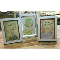Art prints by Wishcandy framed at Carlton Hair Academy