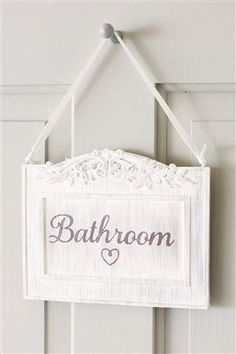 Cute Bathroom Sign - Will do it for my new room!