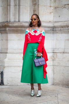 Paris street style feat. Michelle Elie in Delpozo