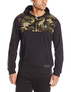 adidas Originals Men's Skateboarding Camo Blocked Hoodie,...