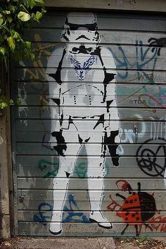 Street Art From a Gallery Far, Far Away #graffiti trendhunter.com