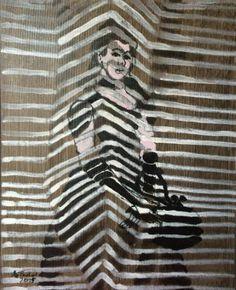 "Saatchi Art Artist Agata Padol; Painting, ""Lady in Black"" #art"