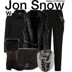 Inspired by Kit Harington as Jon Snow on Game of Thrones.