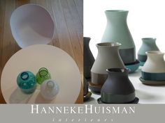 Hanneke Huisman interieurs - Bat Trang vases, limited edition by Imperfect Design.