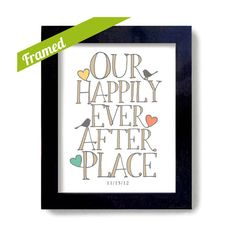 Housewarming Gift Framed Personalized Art Print Happily Ever After Newlywed Welcome Gift Motivational Cheap Wedding Gifts, Wedding Gifts For Couples, Lesbian Wedding, Wedding Ideas, Wedding Inspiration, Wedding Photos, Unique Engagement Gifts, Personalized Housewarming Gifts, Realtor Gifts