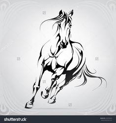 Portfolio von nutriaaa auf Shutterstock Vector silhouette of a running horse Horse Drawings, Animal Drawings, Art Drawings, Horse Stencil, Stencil Painting, Horse Silhouette, Silhouette Vector, Running Silhouette, Painted Horses