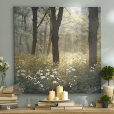 "This ""Morning in the Forest"" Canvas Art Print is calming and relaxing. Its perfect for any mom who loves wall art!"