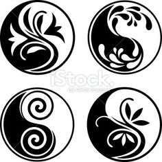 Set of yin yang symbols – Tattoo Pattern Ying Yang, Yin Yang Art, Yin And Yang, Yin Yang Tattoos, Aikido, Lottus Tattoo, Medical Drawings, Yin Yang Designs, Medical Illustration
