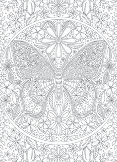Calyspo Coloring Card - Butterfly