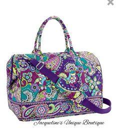 Vera Bradley Frame Travel Bag Heather Luggage Carryall Tote New #VeraBradley