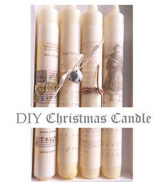 seidenfein 's Dekoblog: DIY Weihnachtskerzen * Christmas carol candles