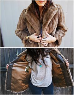 Vintage Faux Fur Coat via Etsy.