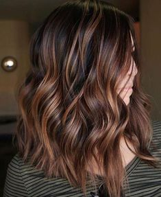 Chocolate Copper Balayage For Black Hair