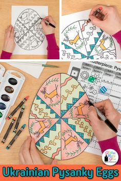Are your elementary students bored with world art history lessons? Why not liven up your cultural art projects for kids with a game?! Check out this Ukrainian pysanky eggs art lesson & roll a dice art game. Fill up your sub plan folder with easy, low-prep painting lessons that are easy to implement. Great for art on a cart, too! Picture directions, assessment rubric, reflection sheets, a coloring page, and I CAN statements aligned to the Studio Habits of Mind are included. | Glitter Meets… Art History Lessons, Art Lessons, Projects For Kids, Art Projects, Multicultural Activities, Art Sub Plans, Habits Of Mind, Elements And Principles, Arts Integration
