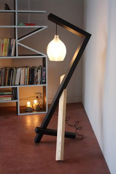ANZFER FARMS: pendant floor lamp for Geremia Design / in collaboration with Jess Wainer (blown glass pendant)