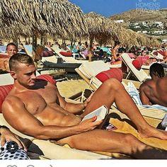 Sexiness on Elia beach Mykonos