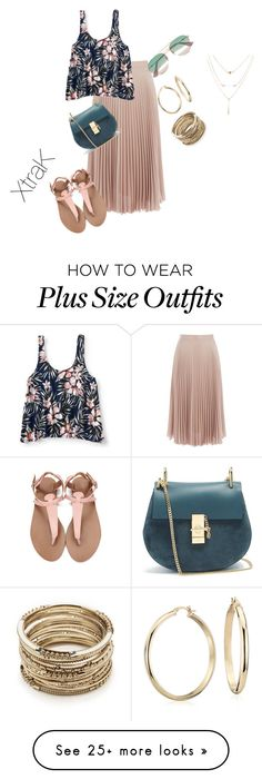 """""""Plus size summer chic"""" by xtrak on Polyvore featuring Warehouse, Aéropostale, Chloé, Blue Nile, Sole Society and Gucci"""