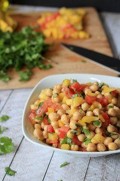 Tex-Mex Chickpea Salad  {Garbanzo Beans}