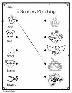 The 5 Senses Differentiated Center Activities English Activities For Kids, Learning English For Kids, English Worksheets For Kids, English Lessons For Kids, Kindergarten Math Worksheets, Kindergarten Science, Preschool Learning Activities, Preschool Printables, 3 Year Old Worksheets