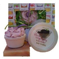 Black Raspberry Cupcake Body Dessert Gift Pack