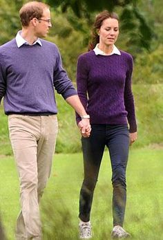 William and Kate are always so adorable together, but this pic of them is my favorite that I've seen so far - she's without makeup, he's in glasses, and they just seem like an old married couple strolling along. Their outfits even blend - preciousness! <3