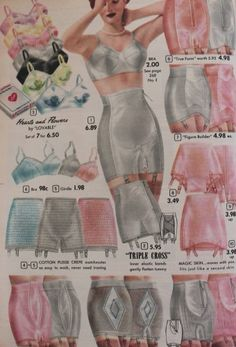 1950s girdles - Skirt shape girdles  #1950s #lingerie