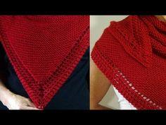 Cómo Tejer CHAL DE LUJO-Knitting a Shawl-Trailer 2 Agujas (375) - YouTube