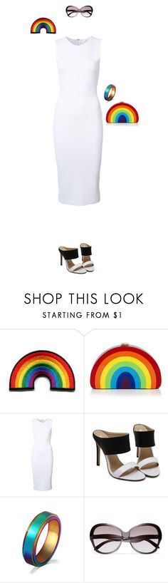 """Pride Month Chic"" by taci42 ❤ liked on Polyvore featuring Milly, Victoria Beckham, WithChic and pride"