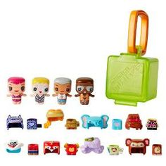 The My Mini MixieQ's world is just like ours… except it's totally cube-ular! Get ready for new small figure fun with 4 trendy characters and 1 Mystery Figure in a Safari Adventure fashion pack! Each figure works with Pop and Swap hair and outfits to customize your way and the set includes 8 hair and outfits - including adorable animal fashions - for nearly endless mix and match play. It also comes with a Carry Cube to wear, share and show off your ideal character! Each fash...