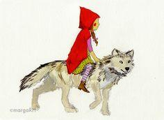Caperucita Roja y lobo / Little Red Riding Hood & Wolf
