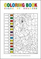 Printable Math Coloring Pages - Calculate and Color by Numbers Math Coloring Worksheets, Free Printable Math Worksheets, Free Printable Coloring Pages, Free Printables, Number Worksheets, Coloring For Kids, Coloring Books, Rainy Day Crafts, Color By Numbers