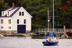 Pemaquid Harbor Maine Near Colonial Just Northeastish Of Damariscotta Me