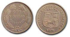La primera Locha Venezolana los 2 y 1/2 centavos de 1876