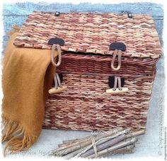 Поделка изделие Плетение Время теплых шарфов Трубочки бумажные фото 2