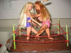 Mud Wrestling Barbie Chocolate Cake