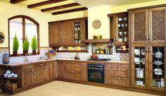 cocinas de madera oscura y rejilla - Buscar con Google