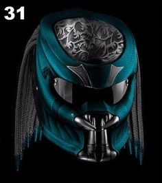 PREDATOR HELMET STREET FIGHTER DOT APPROVED - BLACK WITH BLUE COLOR #Unbranded #Predator