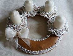Advent Wreath, Sugar Art, Xmas Decorations, Gingerbread, Crochet Necklace, Projects To Try, Crafty, Cookies, Blog