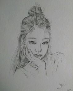 Quick rough sketch of Jennie - - #jenniefanart #blackpinkfanart #kpopfanart #kpopart #koreanfanarts #kfanart #sketch #blackpinkjennie #drawing