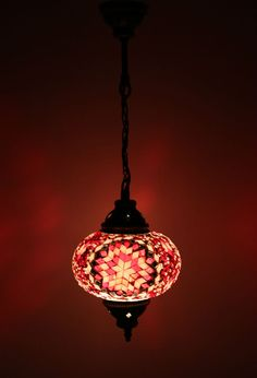 Multicolour Turkish Moroccan Style Mosaic Hanging Lamp Light Hand Made DY304